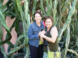 Lorene and me, visiting the famed Lotusland in Santa Barbara (2007)
