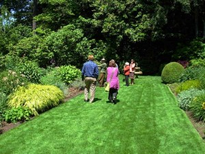 Garden touring in the Seattle garden of Mrs. Alison Andrews
