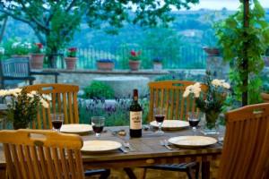 The garden terrace at Villa Maddalena [BillWright photo]