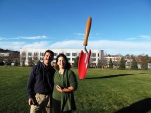 I'm posing with BH&G garden editor Eric Liskey