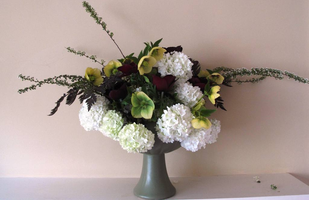Green Floraline Pedestal Bowl