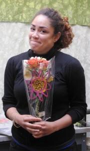 Nicole with flowers
