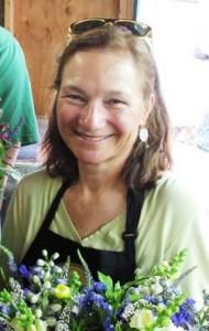 Organic flower farmer Joan Thorndike, of Le Mera Gardens.