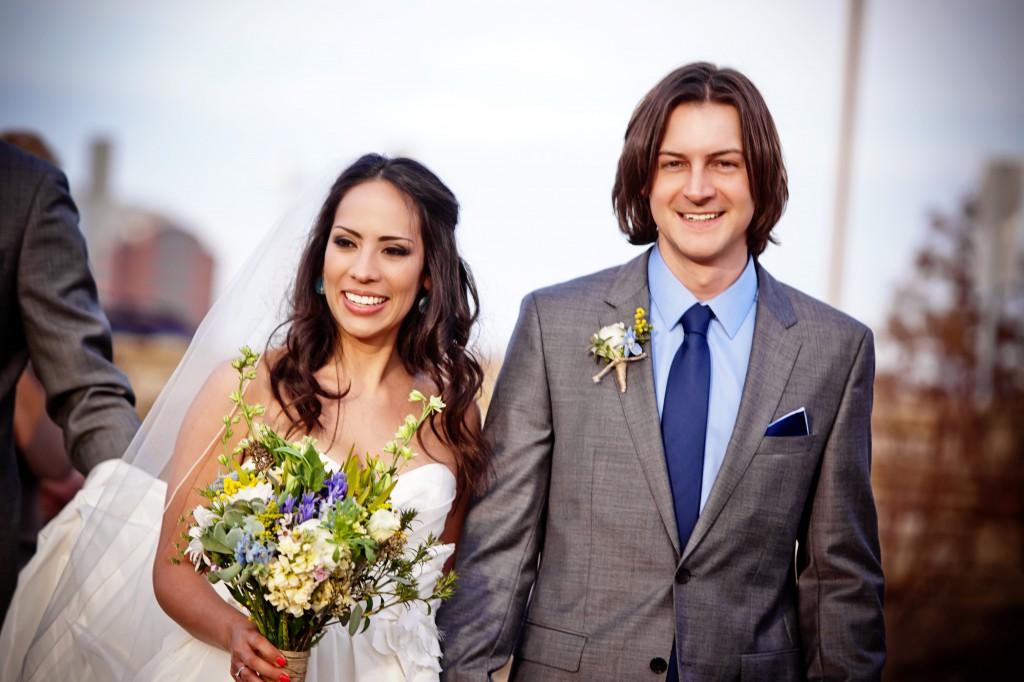 A Sunny Meadows Flower Farm wedding, with bride Pilar and groom Matt - and their beautiful seasonal & local Ohio-grown flowers