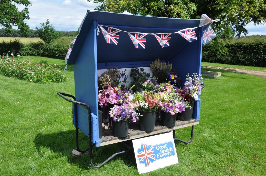 Farm gate sales of British flowers.