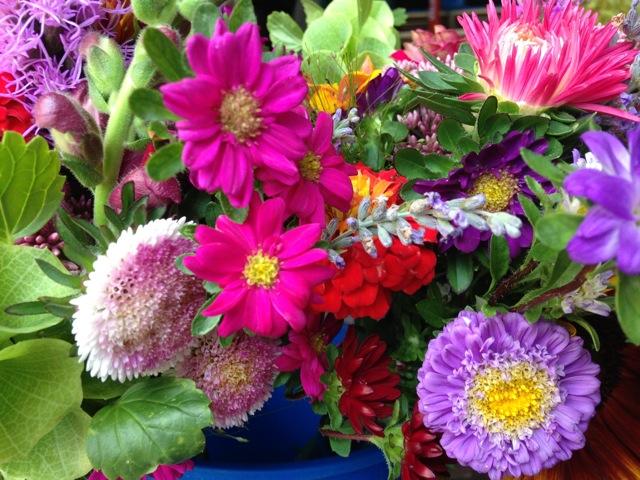 Gigi's vivid summer floral palette.