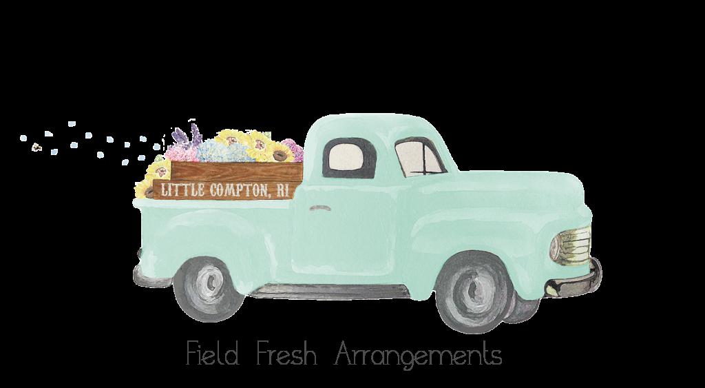 The Local Bouquet's adorable logo depicts the studio's farm-focused spirit.