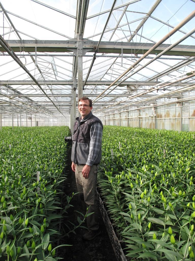 Bill Prescott, my host and tour guide at Sun Valley Flower Farm in Arcata, Calif.