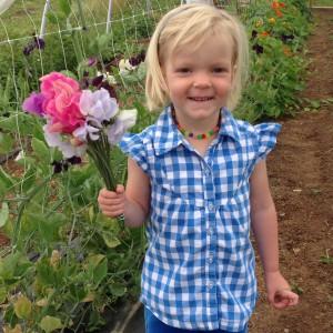 """Chloe Wren, little sister and inspiration for """"Wren"""" in the farm's name."""