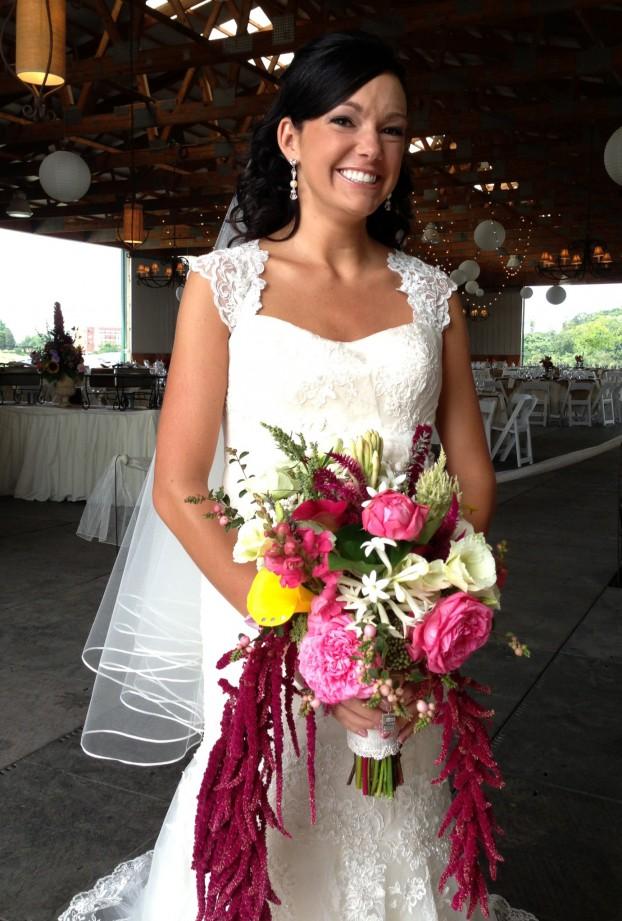 One happy bride.