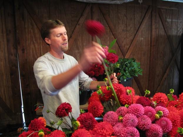 Dan Pearson, dahlia expert, flower farmer, tuber marketer. Plus, he designs a pretty sweet bouquet!