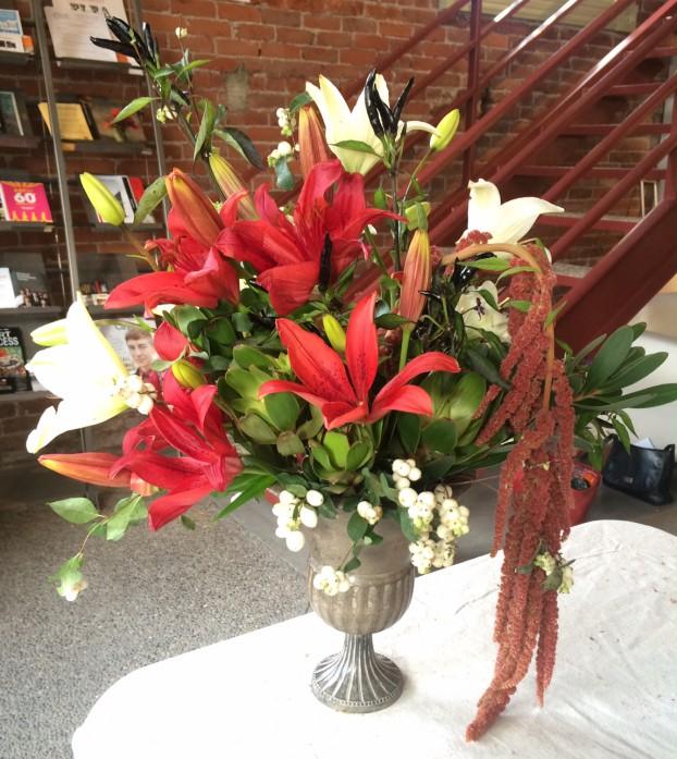 Bouquet designed by Caroline Bombar-Kaplan.