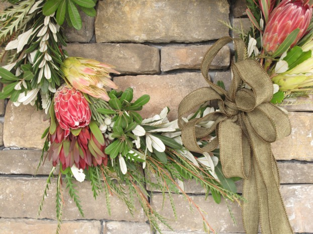 A California-Grown Holiday Wreath.
