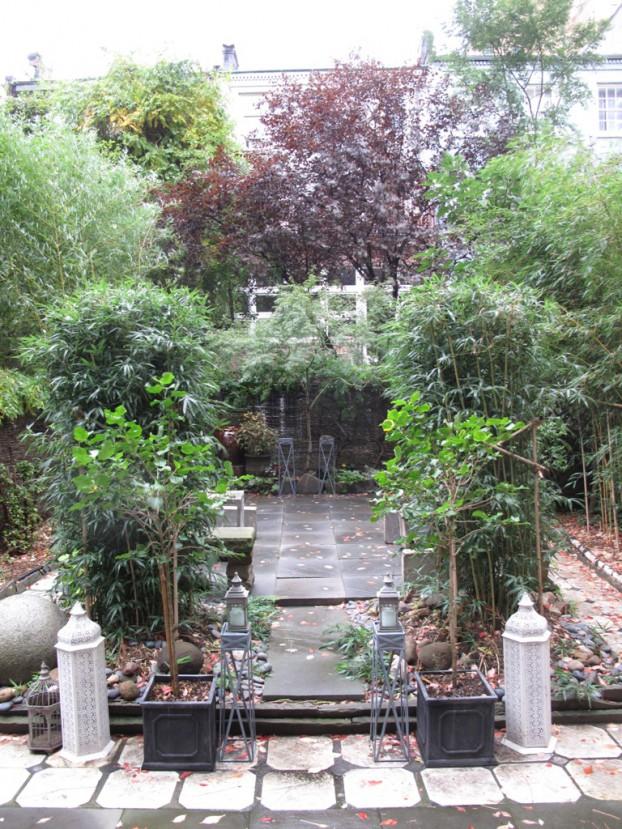 The secret garden at Flower School New York.