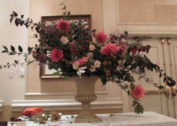 Gorgeous, local, seasonal and simply sublime: Sullivan Owen's lovely urn arrangement.