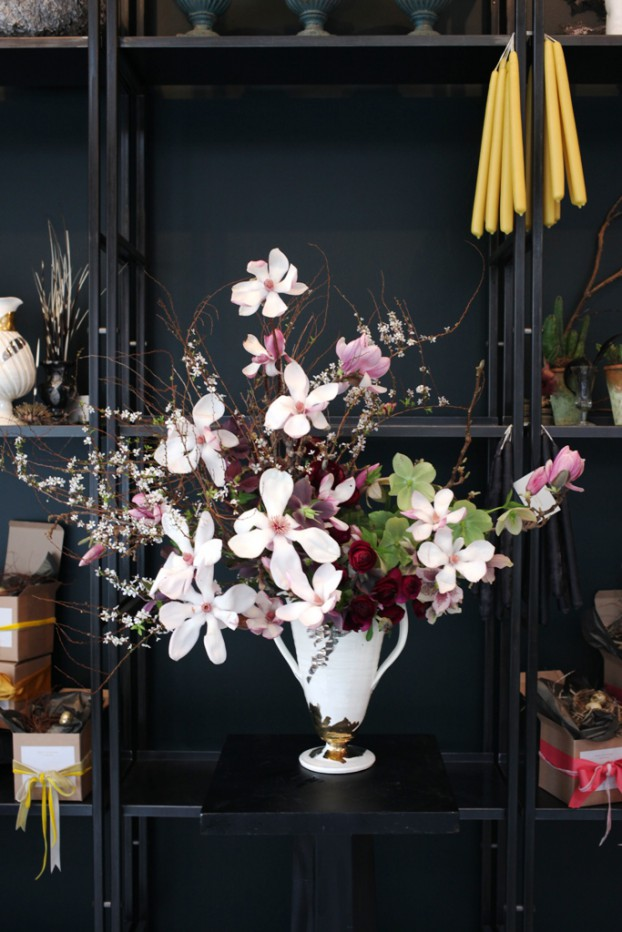 A floral arrangement in a beautiful Frances Palmer ceramic vase (c) Sophia Moreno-Bunge
