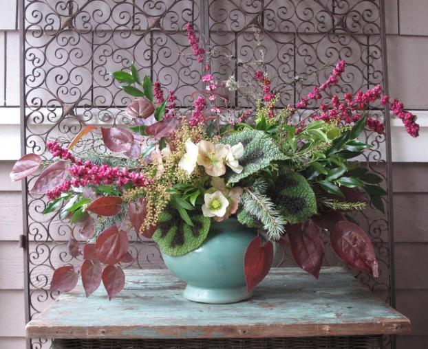 January 15, 2015 Slow Flowers Challenge arrangement