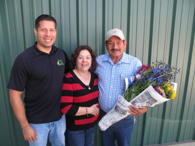 Tony Ortiz (left), with his parents Mercedes and Joseph Sr.