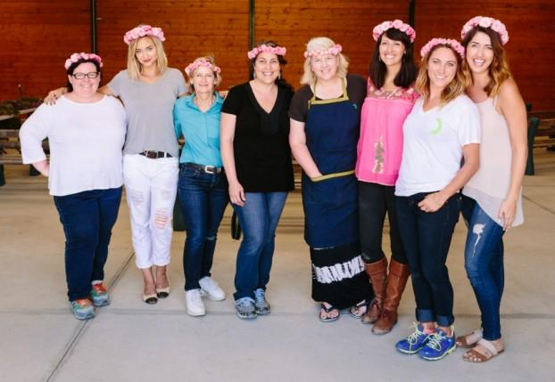 Floral Design team, from left: Kathleen Williford, Liz Cherk, Bonnie Manion, Jen Macy, Debra Prinzing, Christa Lipinski, Bess Wyrick and Jodee Debes (c) Jodee Debes.