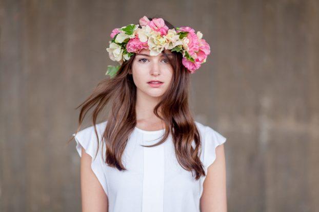 Amanda Austin floral headdress