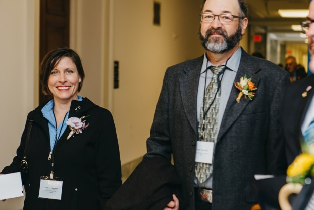 Andrea Gagnon of LynnVale Farm in Virginia with Frank Arnosky of Texas Specialty Cut Flowers
