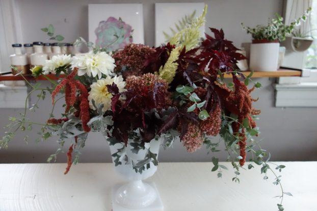 I loved designing with these seasonal North Carolina flowers!