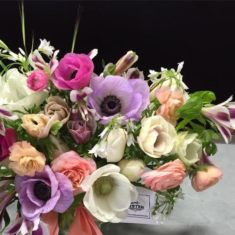 A beautiful seasonal arrangement from California Sister Floral Design.