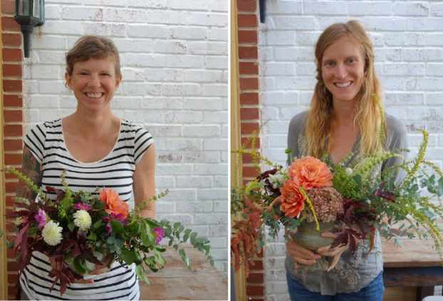 Kelly Morrison of Color Fields Farm in Hillsborough, N.C., and Katy Phillips of Poesy Flower Farm in Durham, N.C.