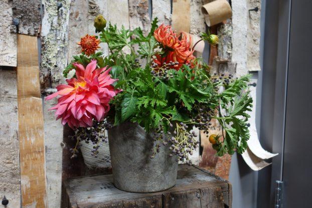 Julia Beckstoffer, floral designer and Bantam Poultry farmer.