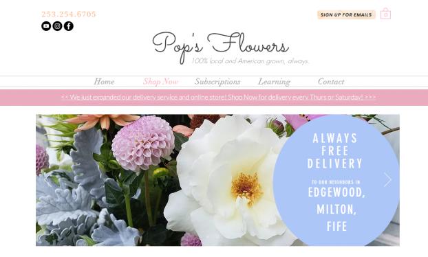 pops flowers website