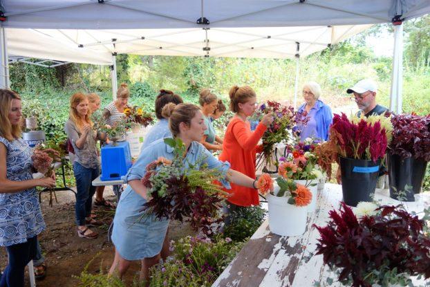 Designers chose from an abundant, local, seasonal selection of beautiful flowers & foliages