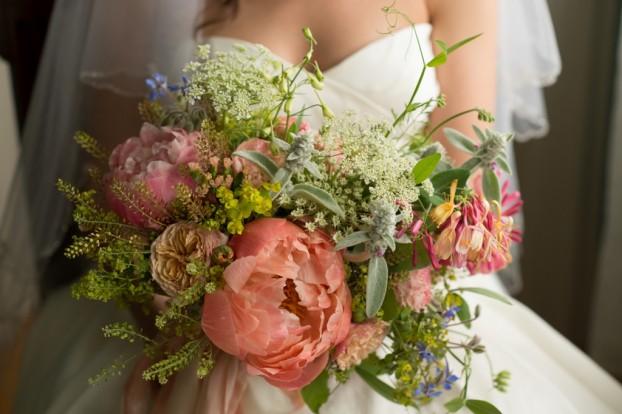 A gorgeous, all-local wedding bouquet by Gloria Battista-Collins