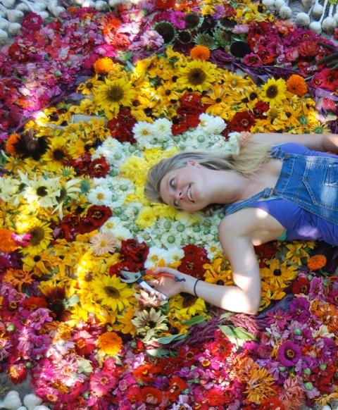 Hedda Brorstrom of Full Bloom Flower Farm.